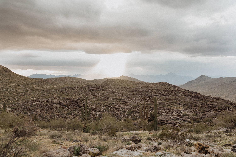 An image of an Arizona desert, a top desert elopement destination, photographed by Alexa Ann, PNW elopement photographer.