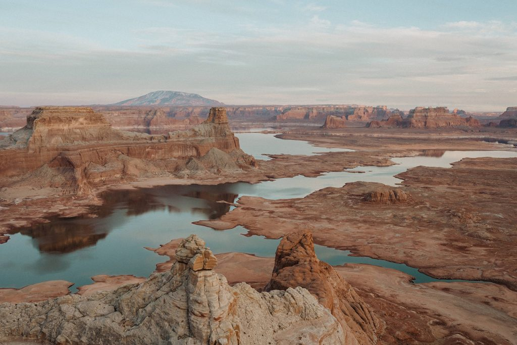 An image of Lake Powell as an example of a Arizona elopement location photographed by Alexa Ann Photography.